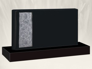 Celtic Book Black Headstone