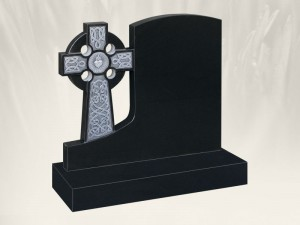A 35 Antique Finish Black Headstone