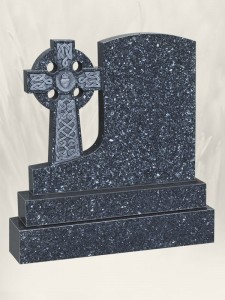 A 35 Antique Finish Blue Pearl Headstone