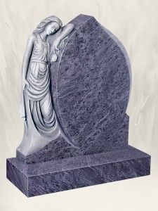 Lady Rose Antique Finish Blue Lagoon Headstone