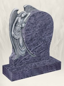 Angel Rose Antique Finish Blue Lagoon Headstone