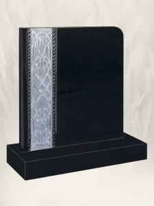 Celtic Book Antique Finish Black Headstone