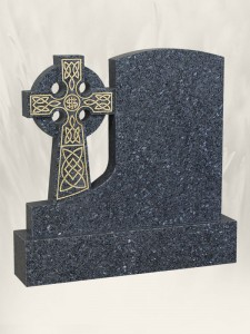 A 35 Polished Finish Blue Pearl Headstone
