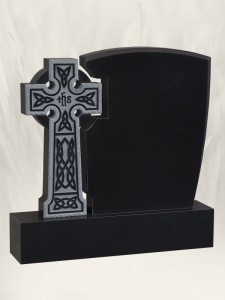 Sharky Cross Black Headstone