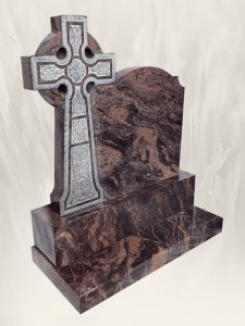 Boyne Celtic Cross Carved N.L Headstone