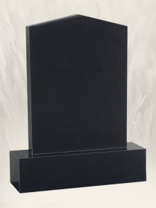 Apex Black Headstone