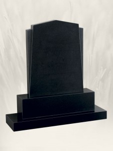 Winged Apex Black Headstone