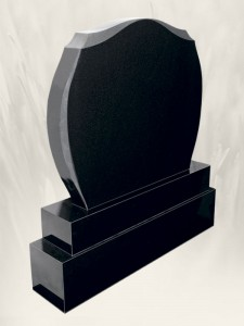 A 25 Black Headstone