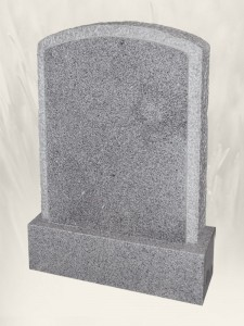 Boulder 001 Punched Finish G 603 Headstone