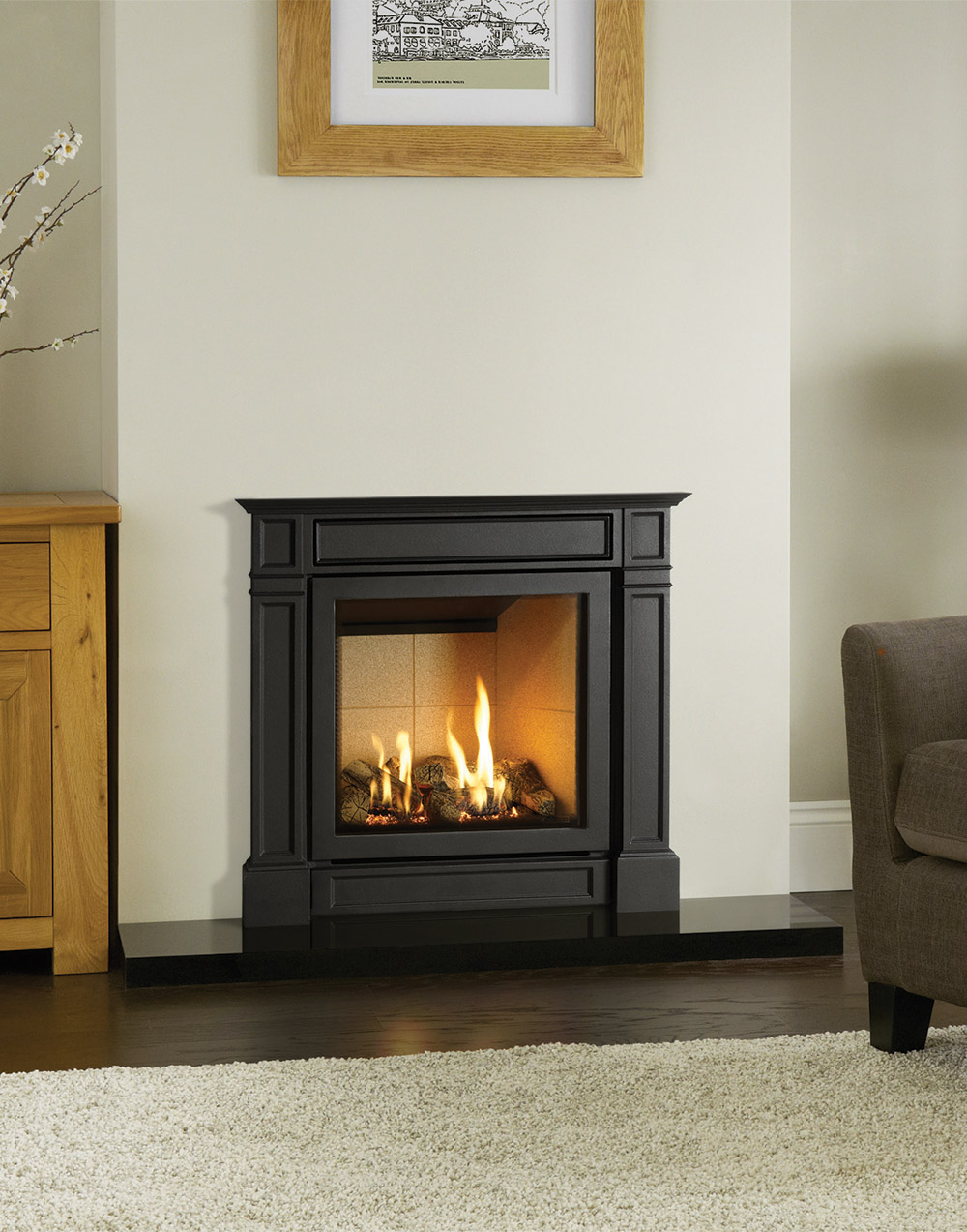 Gazco Riva2 530 Amp 670 Ellingham Hearth Mounted Gas Fires